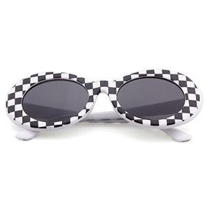 6ca386170b87 Sunny Spex Accessories - Black & White Checkered Retro Grunge Sunglasses